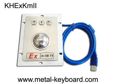 China Anti Vandal Panel Mount Trackball Mouse SUS304 Stainless Steel Ex IbIIB T6 Protection factory