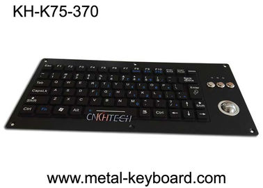 China Compact Silicone Backlit Industrial Keyboard With Trackball 75 Keys 5.0V DC factory