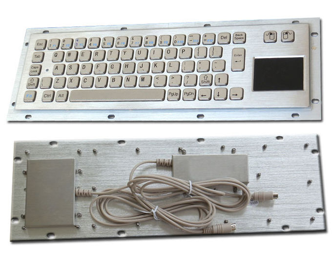 Vandal proof industrial Computer Kiosk keyboard with Stainless steel panel mount