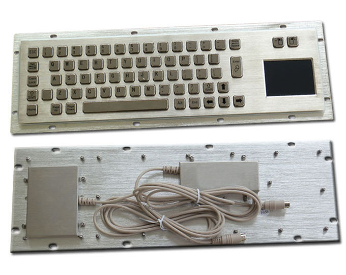 Vandal Proof Industrial Metal Computer Keyboard with Rear Panel Mount
